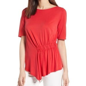 Halogen Red Ruched Top
